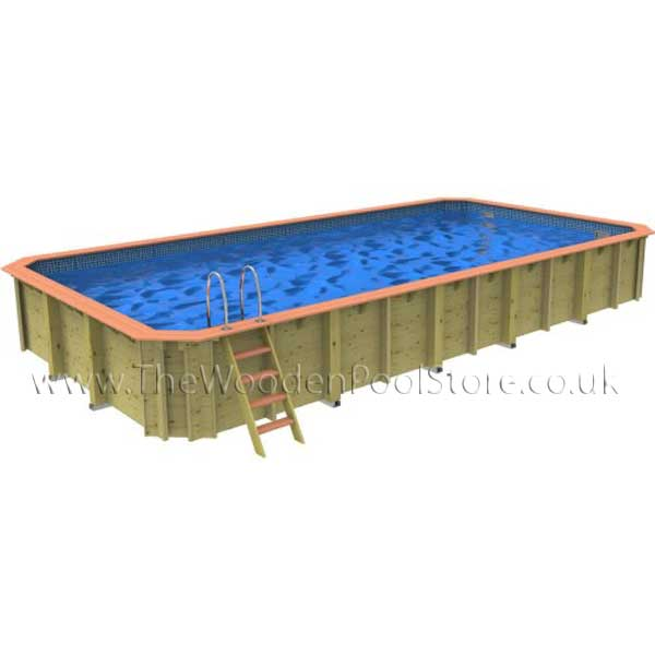 The Chelsea Octagonal Wooden Pool 5m x 10m (1.31m Depth)