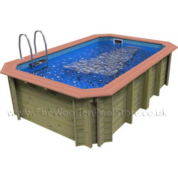 The X-Stream Exercise Wooden Pool 2.426m x 3.916m with Counter Current(1.31m Depth)
