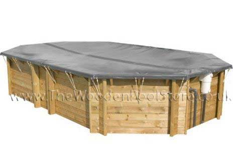 Winter cover for wooden pool